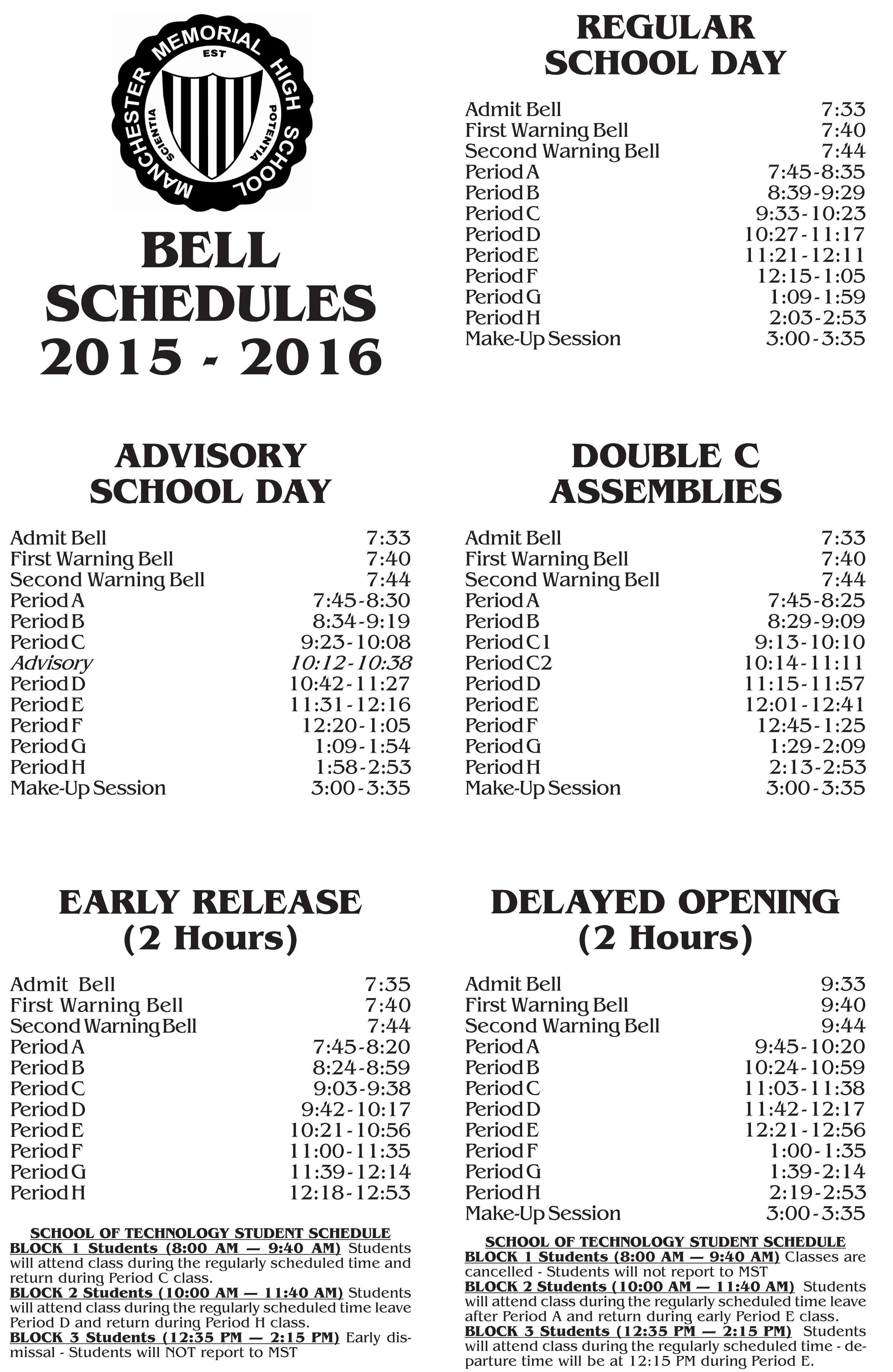 the new msd high school bell schedule by antony rossi